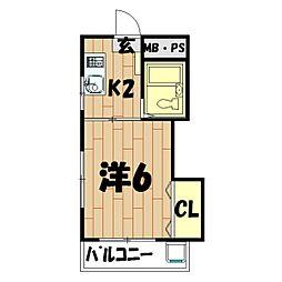 メゾンマキガハラ[3階]の間取り