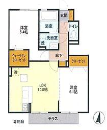 ソレイユ3号棟[1階]の間取り