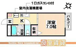 愛知県名古屋市南区笠寺町字上新町の賃貸アパートの間取り