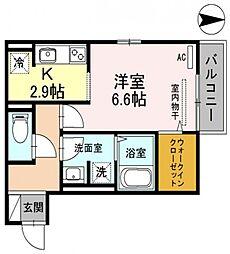 セジュールユイット西岩田[2階]の間取り