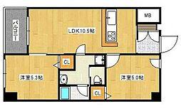 ケープラス[2階]の間取り