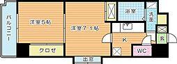 アヴィニールNo.5[4階]の間取り