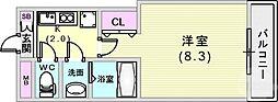 JR東海道・山陽本線 元町駅 徒歩10分の賃貸マンション 1階1Kの間取り
