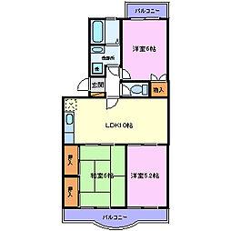 ラ・フォーレくらば2[2階]の間取り