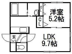 KI.Hassamu4-4[3階]の間取り