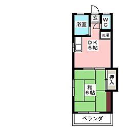 Kビル[3階]の間取り