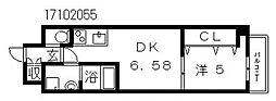 クローバーグランツ阿倍野[8階]の間取り