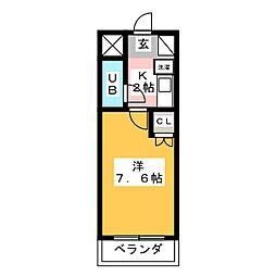 シティパレス平尾駅前partV[4階]の間取り