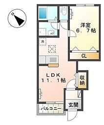 サニーモール・II[1階]の間取り
