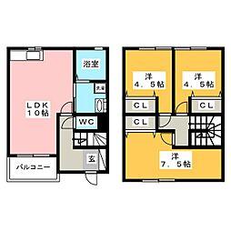 リバーサイドハウスII[1階]の間取り
