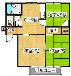 ハイム平戸A[2階]の間取り
