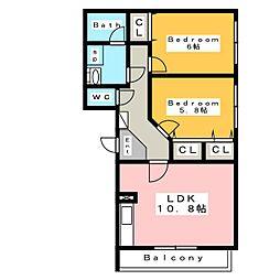 ブレイン (BRAIN)[3階]の間取り