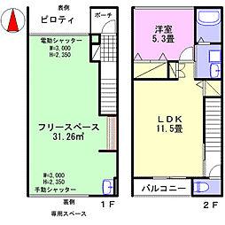 仮)太子鵤ホビールーム 1階1LDKの間取り