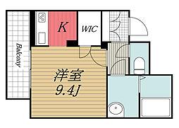JR内房線 姉ヶ崎駅 徒歩7分の賃貸マンション 1階ワンルームの間取り