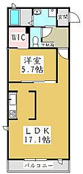 グリーンコーポ青木[2階]の間取り