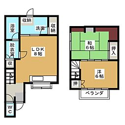 [一戸建] 静岡県静岡市清水区本郷町 の賃貸【/】の間取り