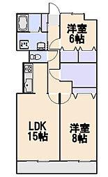 リュミエ新所沢II[3階]の間取り