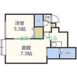 ガーデン ズリビオ[3階]の間取り