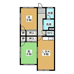 ジュネスコーポ[1階]の間取り