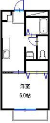 兵庫県加古郡播磨町南野添 1丁目の賃貸アパートの間取り