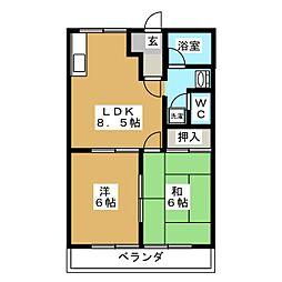 フォートレス21B[2階]の間取り