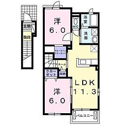 ウォーブラ ハウス HR[2階]の間取り