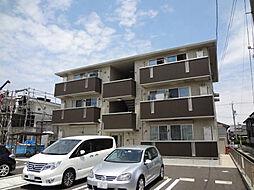 愛知県西尾市丁田町流の賃貸アパートの外観