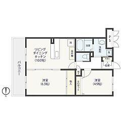 立はマンション[405号室]の間取り