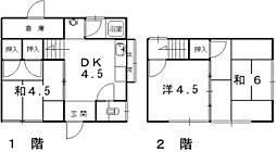 [一戸建] 兵庫県姫路市広畑区早瀬町2丁目 の賃貸【/】の間取り