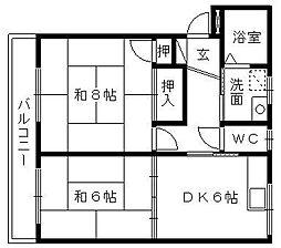 静岡県浜松市東区大瀬町の賃貸マンションの間取り