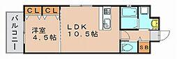エンクレスト博多駅南II[7階]の間取り