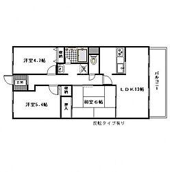 メゾン羽倉崎[2階]の間取り