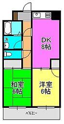 ラレス横山1[203号室]の間取り