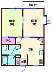 若竹ハイツA[1階]の間取り