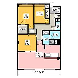 CORTILE MARUFUKU[3階]の間取り