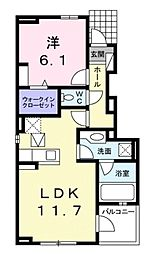 プラシード新城II[1階]の間取り