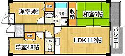 四条畷サカモトマンション[1階]の間取り