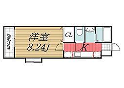 千葉県佐倉市石川の賃貸アパートの間取り