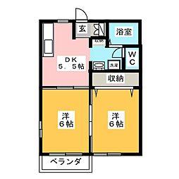 セーブルハイツA[2階]の間取り