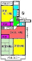 ロイヤルグリーン八千代5号棟[1階]の間取り