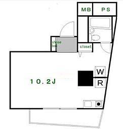 パレ・ドール山王北[2階]の間取り