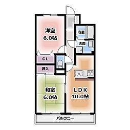 サンライズマンション[302号室]の間取り