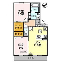 Casa raffine 瀬田A[302号室号室]の間取り