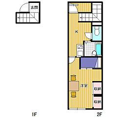 レオパレスエトワール[2階]の間取り