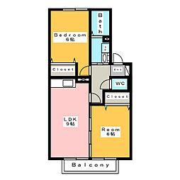 ビオテルム[1階]の間取り