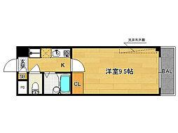 富士ラビット七条館[406号室]の間取り