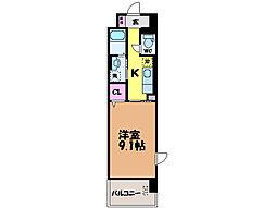 愛媛県松山市樽味1丁目の賃貸アパートの間取り