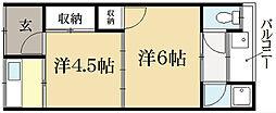 コーポ田中[2階]の間取り
