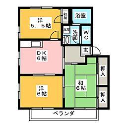 ハムレット´96B棟[1階]の間取り