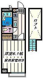 東京都江戸川区松江5丁目の賃貸アパートの間取り